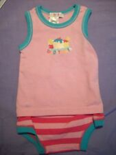 BRIGHT BOTS TANK TOP WITH MATCHING NAPPY PANTS