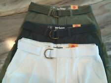 MEN'S URBAN PIPELINE 100% COTTON BELTED CARGO SHORTS~CLASSIC LENGTH/HITS AT KNEE