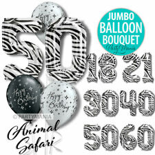 18TH 21ST 30TH 40TH 50TH 60TH BIRTHDAY PARTY SUPPLIES JUMBO BALLOON BOUQUETS
