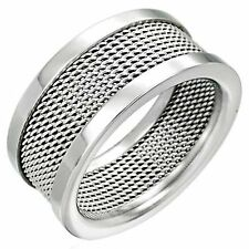 Ring Made of Stainless Steel Stylish Modern Stainless Steel Ring Unisex Silver
