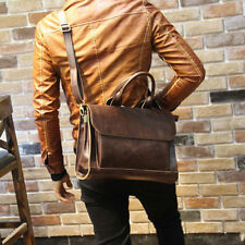Men Portfolio Business Case Faux Leather Briefcase Laptop Shoulder Messenger Bag