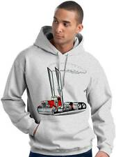 Peterbilt Semi Big Rig Truck Cartoon Hoodie or Crew Sweatshirt #1030 hauler cab