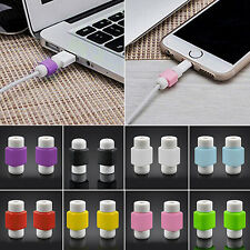 4x Artistic Lightning Charger Cable Saver Protector for Apple iPhone 5S 6 6 Plus