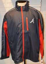 Men's MLB Atlanta Braves Lightweight Full Zip Windbreaker Jacket Size 2XL