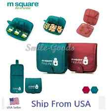 M SQUARE First Aid Vitamin Medicine Pill Box Case Container Travel Organizer USA