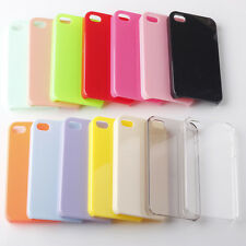 Ultra Thin Colorful Plain Glossy PC Hard Back Case Cover For Apple iPhone 4 4S