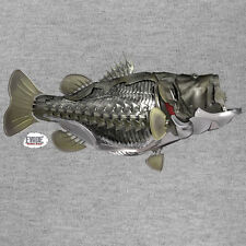 BASS T Shirt Long Sleeve Freshwater Fishing Angler by Evade Outdoor Armor