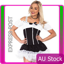 Ladies French Maid Costume Outfit Gretchen German Cleaner Fancy Dress Hens Party