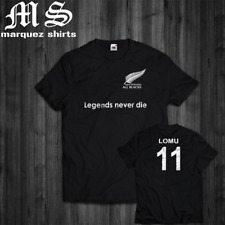 T Shirt All Blacks Jonah Lomu Rugby Challenge Legends Never Die New Zealand