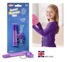 Secret Message Writing Spy Pen +UV LIGHT TORCH Magic Letter Invisible Ink Marker