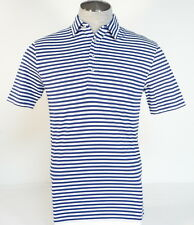 Polo Golf Ralph Lauren Blue & White Stripe Vintage Lisle Polo Shirt Mens NWT