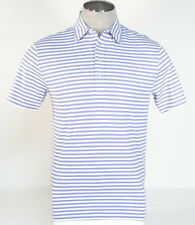 Polo Golf Ralph Lauren Purple & White Stripe Vintage Lisle Polo Shirt Mens NWT