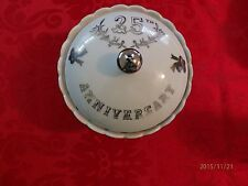 Lefton 25th Anniversary Candy Dish with Lid Hand Painted #998
