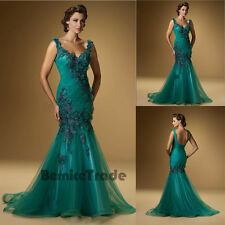 New V-neck Bridesmaid Party Evening Formal Prom Gown Mother Of Bride Dress 6-16