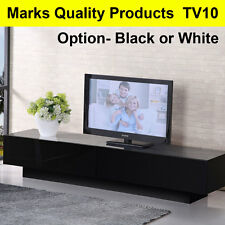 TV Entertainment Unit Stand Gloss Cabinet Lowline Shelf TV10 White & Black