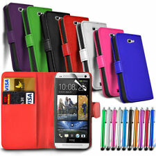 HTC One A9 - Case Card Slot Wallet Flip Cover & Stylus