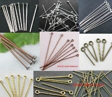 100pcs Silver/Golden Head Eye Ball Style Pin Jewelry Finding 21Gauge/24Gauge