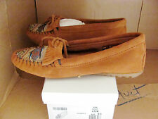 Minnetonka Moccasins Womens Brown Suede #472K