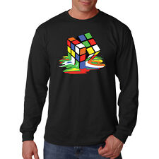 Rubiks Cube 80's Puzzle Game Funny Long Sleeve T-Shirt Tee