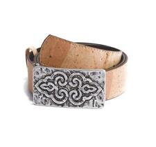 Women's Belt Handmade From Genuine Cork & Leather Original Look From Portugal