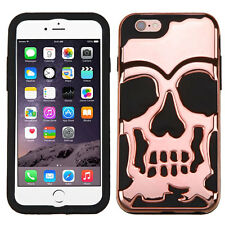 Skull Hybrid ShockProof Rubber Protective Case Cover for Apple iPhone 7 6S PLUS