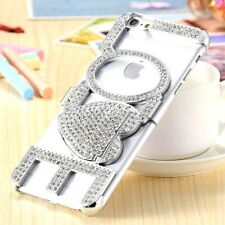 Bling Diamond LOVE Kickstand Silver Bumper Case For iPhone 6/6s & 6/6s Plus