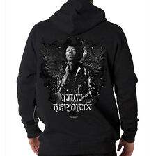 Jimi Hendrix Rock & Roll Guitar Legend Angel Music Hooded Sweatshirt Hoodie