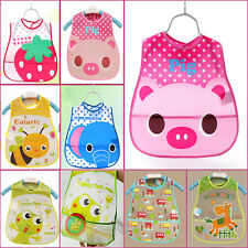 Baby Bandana Bibs EVA plastic Waterproof Lunch Bibs Boys Girls Baby Cartoon Bibs