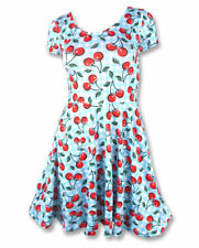Liquorbrand Pinup Cherry Gingham Rockabilly Skater Dress 40s 50s Party Festival