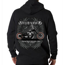 Bobber Garage Custom Motorcycles Biker Chopper Wings Hooded Sweatshirt Hoodie