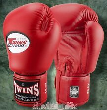 BOXING GLOVES GENUINE TWINS SPECIAL  MUAY THAI MMA BGVL3 RED 8,10,12,14,16 OZ.