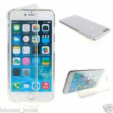 Transparent Crystal Clear Soft Jelly Book Case Flip Cover For Apple iPhone 6/6s