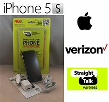 Apple iPhone 5S 16/32/64GB (Straight Talk) Verizon 4G LTE Black White Gold