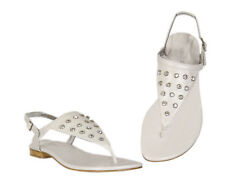 Womens Misano White Strappy Diamante Buckle Ladies Sandal Thong Sandals Size 8 9