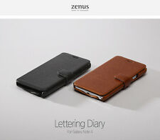 Zenus Lettering Leather Diary Cover Cell Phone Back Case Samsung Galaxy Note 4