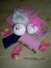 Luxurious Handmade Bath Bomb Gift Sets with Reusable Pretty Hessian Bag