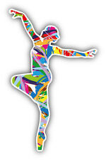 Girl Dancer Colorful Silhouette Car Bumper Sticker Decal 3'' x 5''