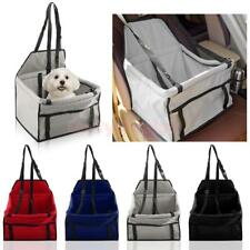 Dog Cat Pet Safety Car Seat Booster Bag Soft Travel Basket w/ Leash 5 Colors