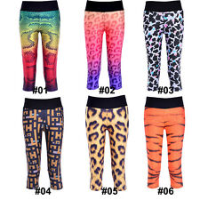 Womens High Waist Fitness YOGA Sport pants Printed Stretch Leopard Leggings New