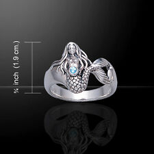 Mermaid .925 Sterling Silver Ring Choice of Gemstone by Peter Stone