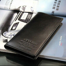 New Mens Long Casual Leather Wallet Pockets Card Clutch Cente Bifold Purse