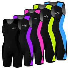Womens Triathlon Suit Padded Tri Suit Swimming Cycling Running Yoga Suit