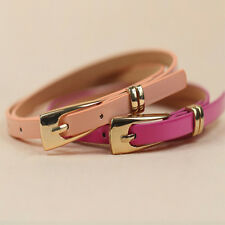 Fashion Simple  Women Lady Girls Cortical Candy Colorful Waist Skinny Belts HOT