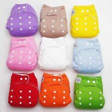 1/5/10 PCS+ INSERTS Adjustable Reusable Lot Baby Washable Cloth Diaper Nappies