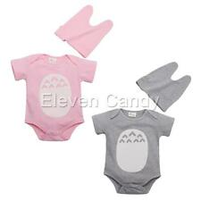 2PCS Baby Infant Girl Short Sleeve Romper Totoro Costume Jumpsuit Hat Set Outfit