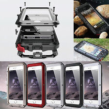 Shockproof Aluminum Glass Metal Heavy Duty Case Cover for Apple iPhone 6 &6 Plus