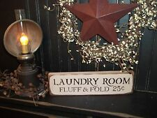 Wood Sign LAUNDRY ROOM Country Rustic Shelf Sitter Block Sign Prim Home Decor