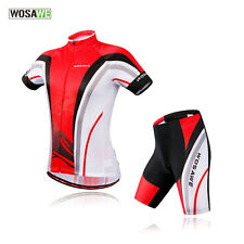 Men Outdoor Sports Bike Cycling Bicycle Short Sleeve Jersey Padded Sets Shorts