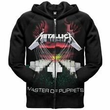 Metallica MASTER OF PUPPETS Zip Up Hoodie Hooded Sweatshirt NEW Licensed
