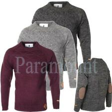 Soulstar Elbow Patch Crew Neck Knitted Jumper  mens Size